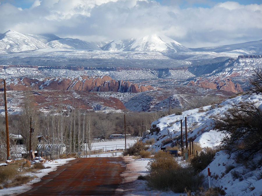 Moab, Utah in winter