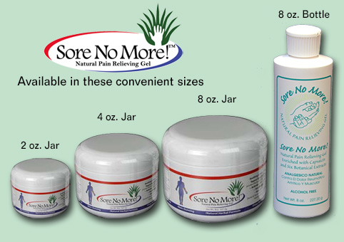 Sore No More pain relieving gel